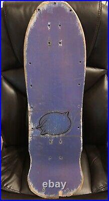 Vintage 1980s 80s OG Santa Cruz Roskopp Face Skateboard Deck Purple Blue
