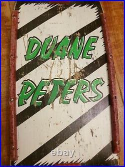 Vintage 1984 Duane Peters Santa Cruz Skateboard Independent Stage 3 Kryptonics