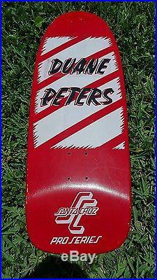 Vintage 1985 Duane Peters Skateboard Deck