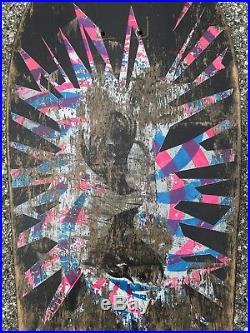 Vintage 1986 Santa Cruz Skateboards Psychotic Eyes Deck Grosso Kendall Jessee