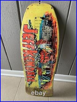 Vintage 1987 Santa Cruz Jeff Kendall'Pumpkin' Original Skateboard Deck