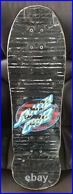 Vintage 1988 OG 80s Santa Cruz Blacktop Roskopp Face Skateboard Deck Grey Stain