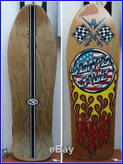 Vintage 1989 /90s Santa Cruz Jason Jessee V8 (hotrod) Skateboard Old School Rare