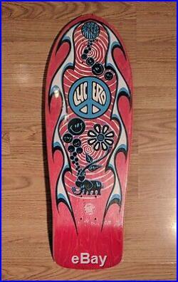 Vintage 1989 NOS Santa Cruz John Lucero Street Thing 2 Red Stain Skateboard Deck