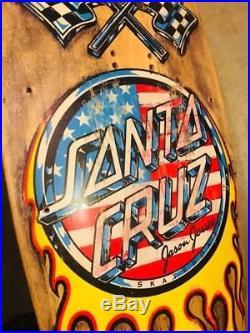 Vintage 1989 Santa Cruz Jason Jessee V8 (hotrod) Skateboard Old School Rare