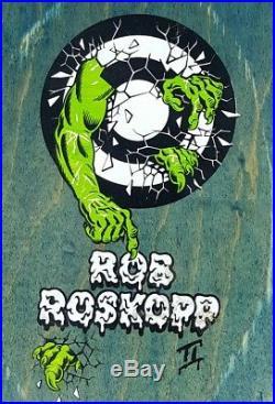 Vintage 1991 Santa Cruz Rob Roskopp Everslick Skateboard