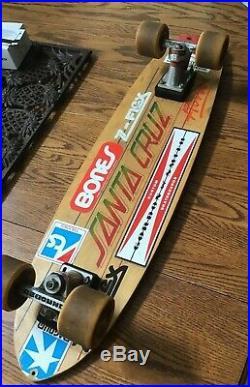 Vintage 78-79 Santa Cruz Complete Skateboard Rebound Trucks, G&S Wonkers + Sling