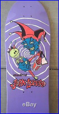Vintage 80's John Lucero Madrid skateboard Resto Santa Cruz Natas nos Grosso