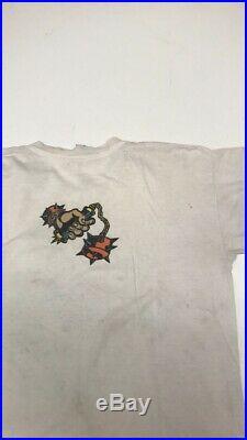 Vintage 80s Bullet Wheels Santa Cruz Skateboard T-Shirt Mens Size L RARE