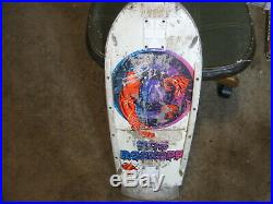 Vintage 80s SANTA CRUZ Rob Roskopp Trashed Skateboard Deck