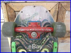 Vintage Green/Pink Rob Roskopp 80's Santa Cruz Skateboard Tracker Slime Balls