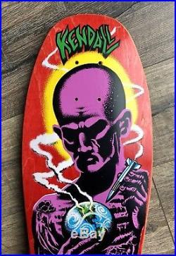 Vintage Jeff Kendall Atom Man Santa Cruz Skateboard Deck Blacktop Og Nos