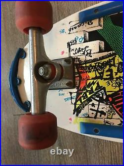Vintage Jeff Kendall Graffiti Santa Cruz Skateboard Deck with Trucks & Wheels