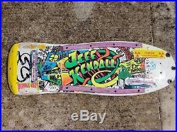 Vintage Jeff Kendall rare Graffiti skateboard deck by Santa Cruz
