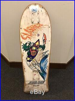 Vintage Keith Meeks Santa Cruz Slasher skateboard Deck Powell Peralta Alva