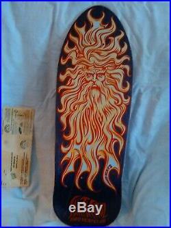 Vintage NOS 1988 Santa Cruz Jason Jessee Skate Board Deck Sun God