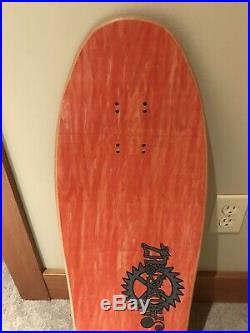 Vintage NOS SANTA CRUZ Clause Grabke Clock Skateboard Deck Perfect Condition