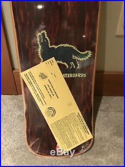 Vintage NOS SANTA CRUZ Jeff Kendall Wolf Skateboard Deck Still in Shrink Hosoi