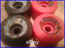 Vintage NOS Santa Cruz BULLET Speed Wheels Skateboard Wheels Pink & Black