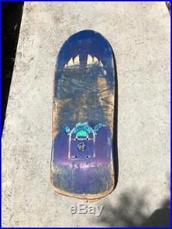 Vintage Natas Skateboard Santa Monica Airlines Santa Cruz Deck