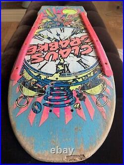 Vintage OG 1987 Santa Cruz Claus Grabke Exploding Clock Skateboard Deck Phillips