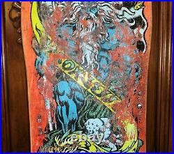 Vintage OG 1988 Santa Cruz Jason Jessee Neptune Shark Tail Skateboard Deck Jesse