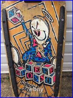 Vintage Original 1980s Santa Cruz Jeff Grosso Schmitt Stix Complete Skateboard