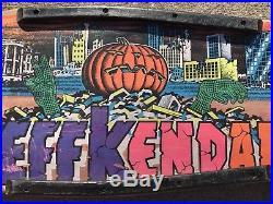 Vintage Original 80s Jeff Kendall Santa Cruz Pumpkin Man Skateboard Deck Only