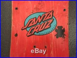 Vintage Original OG 1980s Rob RosKopp Face Santa Cruz Skateboard Deck