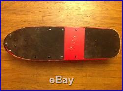 Vintage Original Santa Cruz Jammer Complete Skateboard. Rare Red Dip Colorway