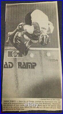 Vintage Rad Ramp skateboard half pipe. Pepsi ramp 1978. Santa Cruz Powell G&S