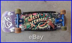 Vintage Rare Jeff Kendall GRAFFITI 80s Santa Cruz PURPLE skateboard JENNY Natas