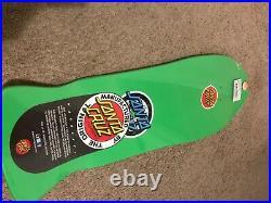 Vintage Rob Roskopp Santa Cruz Skateboard Reissue TarGet 4 green Powell vision