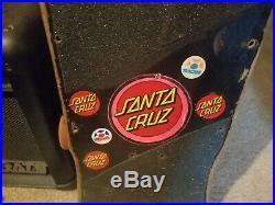Vintage SANTA CRUZ Bullet team skateboard deck old school 80s original