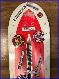 Vintage SANTA CRUZ Team BULLET Skateboard DECK OG 80s Rare SC