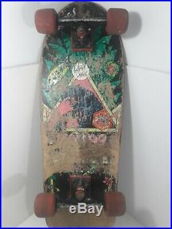 Vintage SMA Natas Kaupas Black Panther 1988 Santa Cruz Skateboard Original