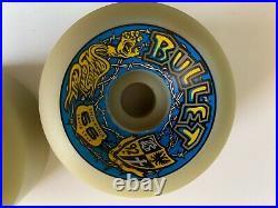 Vintage Santa Cruz Bullet 66mm 92a Skateboard Wheels NOS Originals set4
