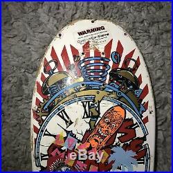 Vintage Santa Cruz Claus Grabke Skateboard Deck Exploding Clock 1987 OG VTG