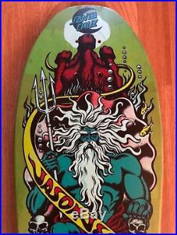 Vintage Santa Cruz Jason Jessee Neptune Shark Tail Skateboard Deck OG SC 80s
