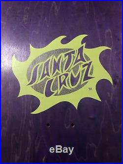 Vintage Santa Cruz Jason Jessee Sungod Skateboard Deck
