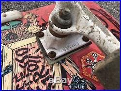 Vintage Santa Cruz Jeff Grosso Toy Box Skateboard Venture Bullet Speed Wheels