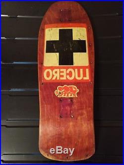 Vintage Santa Cruz John Lucero'black' Cross Skateboard Deck