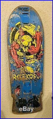 Vintage Santa Cruz Rob Roskopp OG Target III Skateboard Deck
