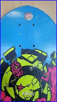 Vintage Santa Cruz Rob Roskopp Target Skateboard Deck ORIGINAL 1986