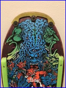 Vintage Santa Cruz Rob Roskopp V Skateboard Deck Powell Peralta Alva