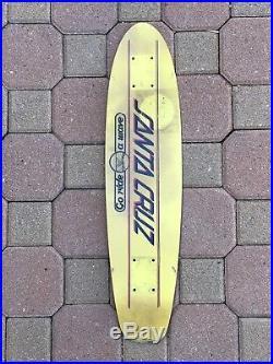Vintage Santa Cruz Skateboard Deck Glass Epoxy With Hardwood Core 1977