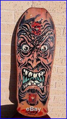 Vintage Santa Cruz Skateboard Rob Roskopp Face NOT A REISSUE Rare Jim Philips