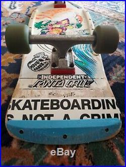 Vintage Santa Cruz Slasher Skateboard Roskopp Independent
