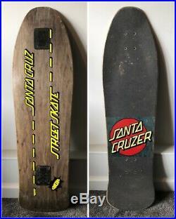 Vintage Santa Cruz Street Skate Cruzer Deck Skateboard Longboard