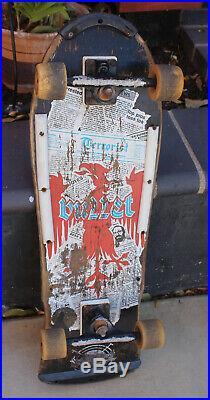 Vintage Santa Cruz Team Bullet Terrorist Old School OG Complete Skateboard 1986